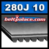 280J10 Belt, Metric 10-PJ711 Motor Belt.