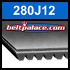 280J12 Poly-V Belt (Micro-V), Metric 12-PJ711 Motor Belt.
