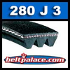 280J3 Poly-V Belt, Industrial Grade Metric 3-PJ711 Motor Belt.