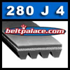 280J4 Poly-V Belt. Metric Belt 4PJ711.
