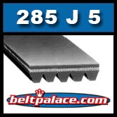 285J5 Poly-V Bet. Metric 5-PJ724 Industrial Grade Belt.
