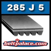 285J5 Poly-V Belt (Micro-V): Metric 5-PJ724 Motor Belt.