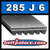 285J6 Poly-V Belt. Metric 6-PJ724 Motor Belt.