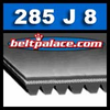 285J8 Poly-V Belt, Metric 8-PJ724 Motor Belt.
