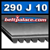 290J10 Poly-V Belt, Metric 10-PJ737 Motor Belt.