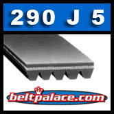 290J5 Poly-V Belt (Micro-V): Metric 5-PJ737 Motor Belt.