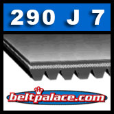 290J7 Poly-V Belt (Micro-V): Metric 7-PJ737 Drive Belt.