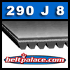 290J8 Poly-V Belt (Micro-V): Industrial Grade Metric 8-PJ737 Motor Belt.