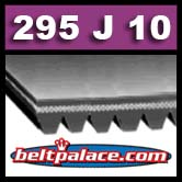 295J10 Poly-V Belt (Micro-V), Metric 10-PJ750 Motor Belt.