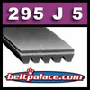 295J5 Poly-V Belt (Micro-V): Metric 5-PJ750 Motor Belt.