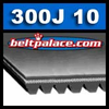 300J10 Poly-V Belt. Metric PJ762 Motor Belt.