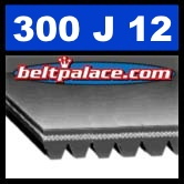 300J12 Poly-V Belt, Metric 12-PJ762 Motor Belt.