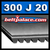 300J20 Poly-V Belt. Metric 20-PJ762 Motor Belt.
