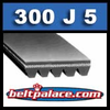 300J5 Poly-V Belt. Metric 5-PJ762 Motor Belt.