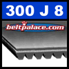 300J8 Poly-V Belt (Micro-V): Metric 8-PJ762 Motor Belt.