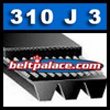 310J3 Poly-V Belt (Micro-V): Metric 3-PJ787 Motor Belt.
