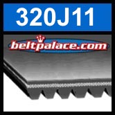 320J11 Poly-V Belt, Metric 11-PJ813 Motor Belt.