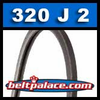 320J2 Poly-V Belt, Metric 2-PJ813 Motor Belt.