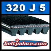 320J5 Poly-V Belt, Metric 5-PJ813 Motor Belt.