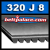 320J8 Poly-V Belt, Metric PJ813 Motor Belt.