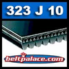 323J10 Poly-V Belt, Industrial Grade Metric 10-PJ880 Motor Belt.