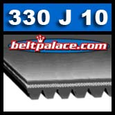 330J10 Poly-V Belt. Metric 10-PJ838 Belt.