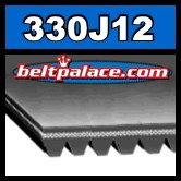 330J12 Poly-V Belt. Metric 12-PJ838 Motor Belt.