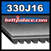 330J16 Poly-V Belt. Metric 16-PJ838 Motor Belt.