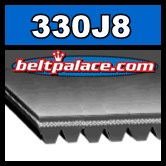 330J8 Poly-V Belt. Metric 8-PJ838 Drive Belt.
