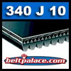 340J10 Poly-V Belt, Metric 10-PJ864 Motor Belt.