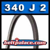 340J2 Poly-V Belt, Metric 2-PJ864 Motor Belt.