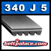 340J5 Poly-V Belt, Metric 5-PJ864 Motor Belt.