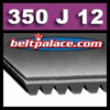 350J12 Poly-V Belt (Micro-V): Metric 12-PJ889 Motor Belt.