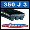 350J3 Poly-V Belt, Metric 3-PJ889 Motor Belt.