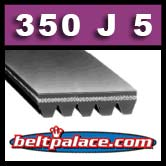 350J5 Poly-V Belt. Metric 5-PJ889 Motor Belt.