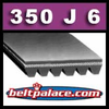 350J6 Poly-V Belt. Metric 6-PJ889 Motor Belt.