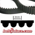 354-3M-9 Synchronous Timing belt. 354mm Length, 3mm tooth pitch, 9mm wide.