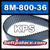 360-KPS8m-800 Replaces GATES 8MGT-800-36 Poly-Chain Belt.