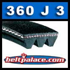 360J3 Poly-V Belt, Metric 3-PJ914 Motor Belt.