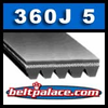360J5 Poly V Belt. Metric belt 5-PJ914.