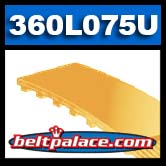 360L075 Polyurethane Timing belt. Bando 360L-075U Timing belt.