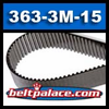 "363-3M-15 Synchronous Belt. 121 Teeth, 3mm Pitch, 14.29"" Length, 15mm Wide."