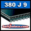 380J9 Poly-V Belt, Metric 9-PJ965 Motor Belt.
