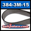 384-3M-15 SynchroLink (H) Neoprene Timing Belt. 384mm Length, 3M Pitch, 15mm Wide.