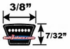3L Light Duty V-Belts (FHP) 3L Sections - CLICK HERE!