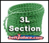 "3L SECTION Link V Belt: Sold as Spool of 100 Feet 3L Section Link V Belting. 0.375"" Top Width (10mm)."