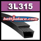3L315 FHP V-Belt. Lawn and Garden Brand.
