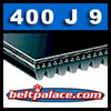 400J9 Poly-V Belt. Metric 9-PJ1016 Motor Belt.