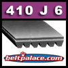410J6 Poly-V Belt (Standard Duty): Metric 6-PJ1041 Motor Belt.