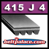 415J4 Poly-V Belt, Metric 4-PJ1054 Motor Belt.